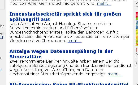 Screenshot von heise-online